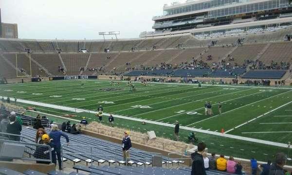 Notre Dame Stadium, secção: 6, fila: 28, lugar: 5