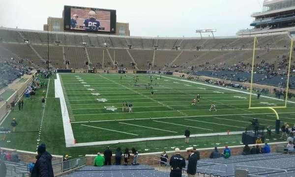 Notre Dame Stadium, secção: 3, fila: 35, lugar: 14