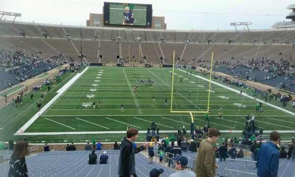 Notre Dame Stadium, secção: 2, fila: 51, lugar: 3