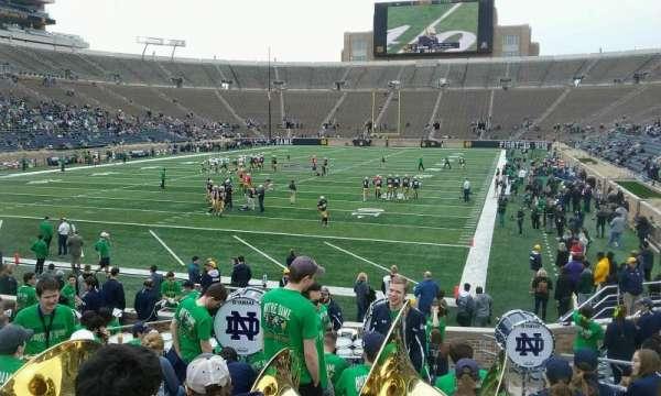 Notre Dame Stadium, secção: 35, fila: 23, lugar: 8