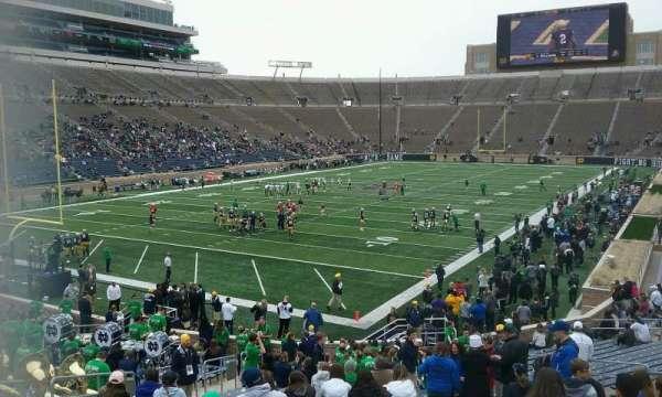 Notre Dame Stadium, secção: 34, fila: 36, lugar: 21