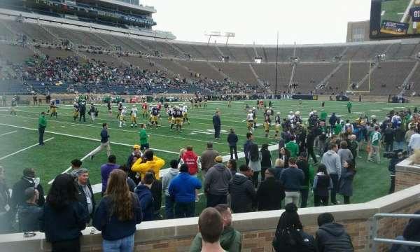 Notre Dame Stadium, secção: 33, fila: 10, lugar: 8