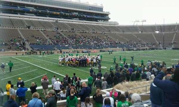 Notre Dame Stadium, secção: 32, fila: 16, lugar: 12