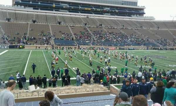 Notre Dame Stadium, secção: 31, fila: 27, lugar: 18