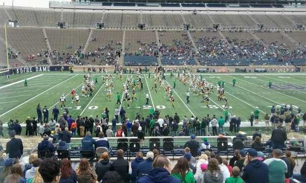 Notre Dame Stadium, secção: 30, fila: 33, lugar: 19
