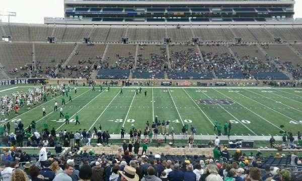 Notre Dame Stadium, secção: 29, fila: 43, lugar: 14