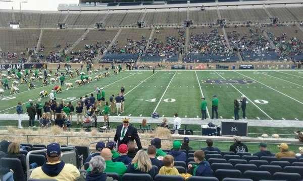 Notre Dame Stadium, secção: 28, fila: 19, lugar: 26