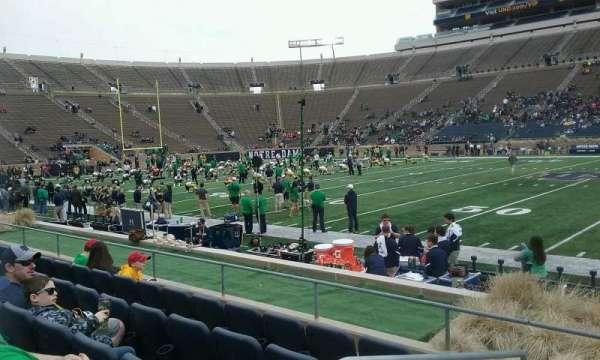 Notre Dame Stadium, secção: 27, fila: E, lugar: 23