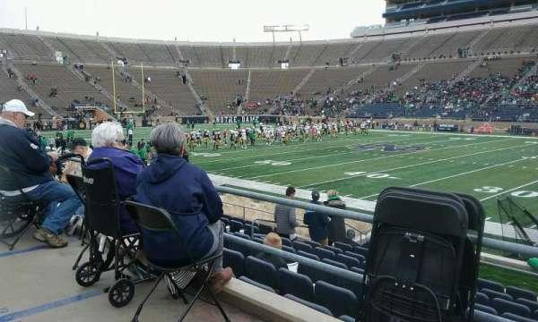 Notre Dame Stadium, secção: 26, fila: 18, lugar: 12