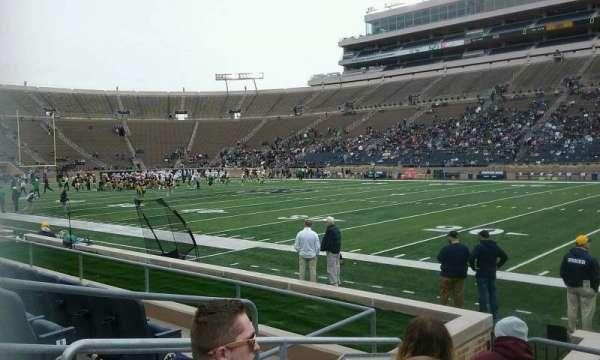 Notre Dame Stadium, secção: 25, fila: 9, lugar: 23