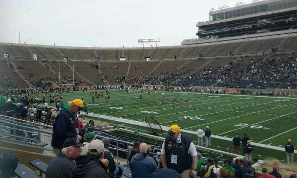 Notre Dame Stadium, secção: 25, fila: 25, lugar: 9