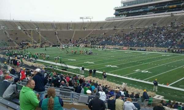 Notre Dame Stadium, secção: 24, fila: 32, lugar: 8