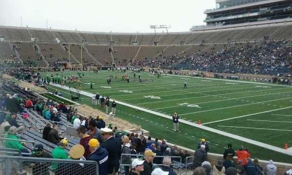 Notre Dame Stadium, secção: 23, fila: 27, lugar: 11