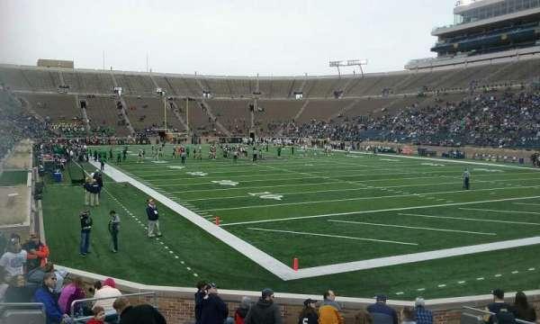 Notre Dame Stadium, secção: 22, fila: 20, lugar: 6