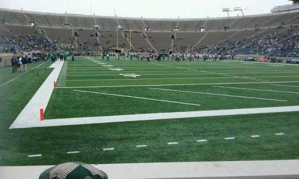 Notre Dame Stadium, secção: 21, fila: 5, lugar: 8