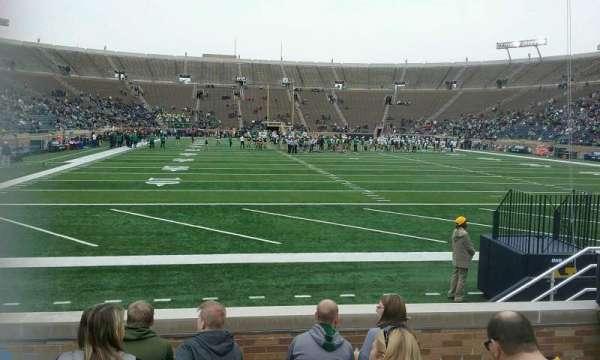 Notre Dame Stadium, secção: 20, fila: 10, lugar: 12
