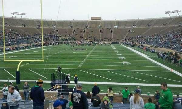 Notre Dame Stadium, secção: 18, fila: 25, lugar: 14