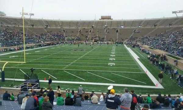 Notre Dame Stadium, secção: 18, fila: 30, lugar: 5