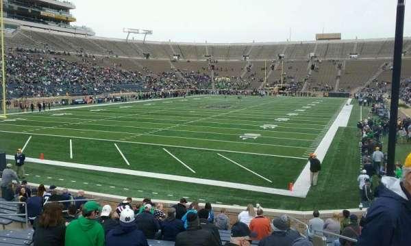 Notre Dame Stadium, secção: 17, fila: 23, lugar: 2