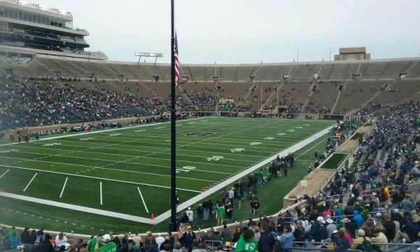 Notre Dame Stadium, secção: 16, fila: 40, lugar: 15