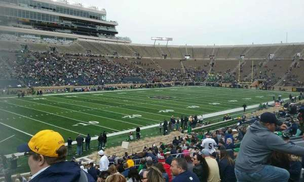 Notre Dame Stadium, secção: 14, fila: 32, lugar: 24