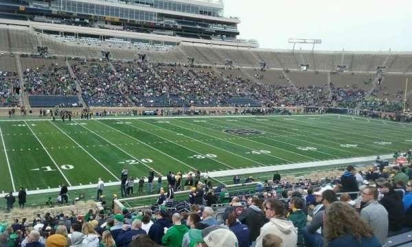 Notre Dame Stadium, secção: 13, fila: 41, lugar: 17