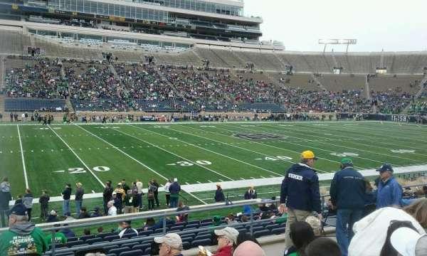Notre Dame Stadium, secção: 12, fila: 24, lugar: 20