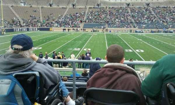 Notre Dame Stadium, secção: 12, fila: ADA, lugar: 1
