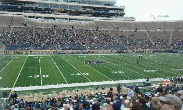 Notre Dame Stadium, secção: 11, fila: 33, lugar: 24