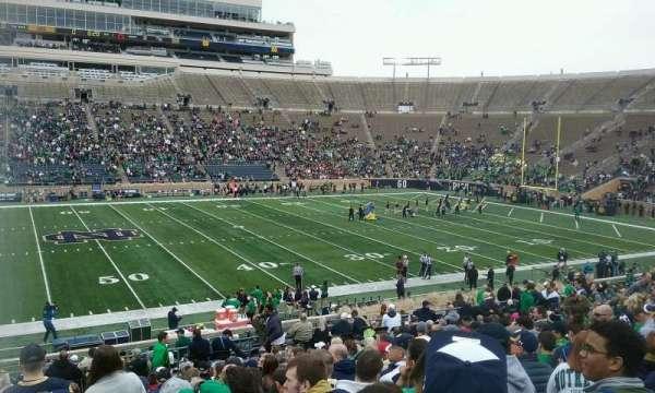 Notre Dame Stadium, secção: 11, fila: 38, lugar: 26