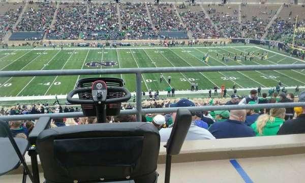 Notre Dame Stadium, secção: 10, fila: 58, lugar: 6