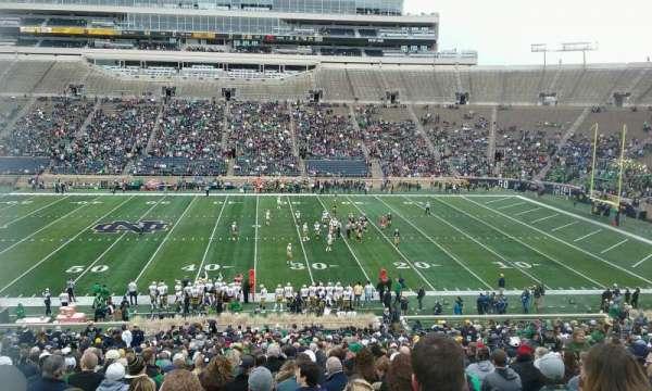 Notre Dame Stadium, secção: 9, fila: 54, lugar: 13