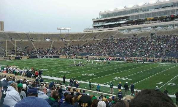 Notre Dame Stadium, secção: 7, fila: 24, lugar: 8