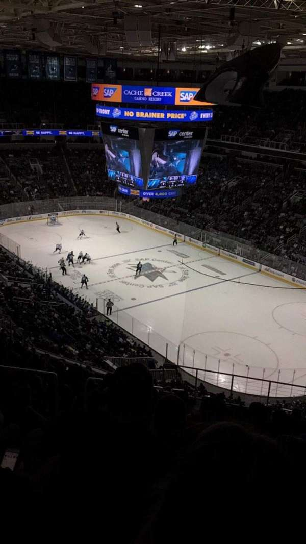 SAP Center at San Jose, secção: 225, fila: 17, lugar: 15