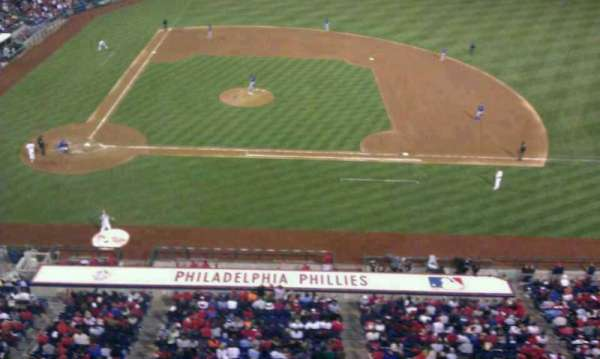 Citizens Bank Park, secção: 316, fila: 1, lugar: 1