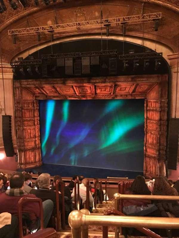 St. James Theatre, secção: Mezzanine R, fila: CC, lugar: 2