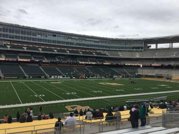 McLane Stadium, secção: 128, fila: 23, lugar: 16