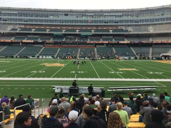 McLane Stadium, secção: 125, fila: 13, lugar: 30