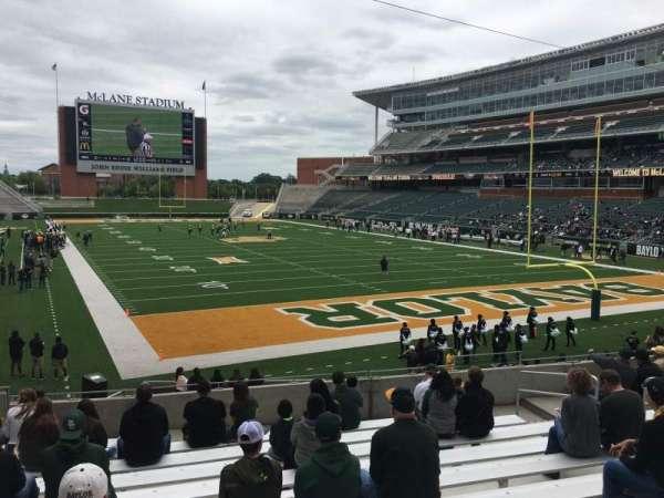 McLane Stadium, secção: 117, fila: 21, lugar: 12