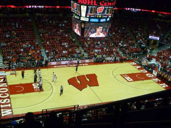 Kohl Center, secção: 310, fila: H, lugar: 3