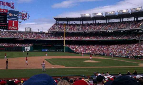 Nationals Park, secção: 115, fila: z, lugar: 9
