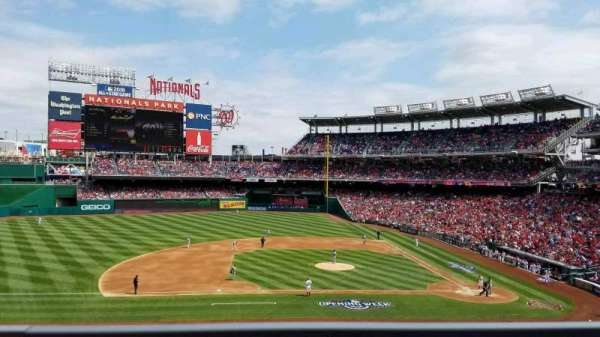 Nationals Park, secção: 208, fila: A, lugar: 7