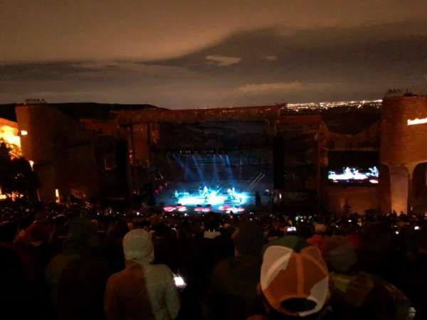 Red Rocks Amphitheatre, fila: 34, lugar: 53