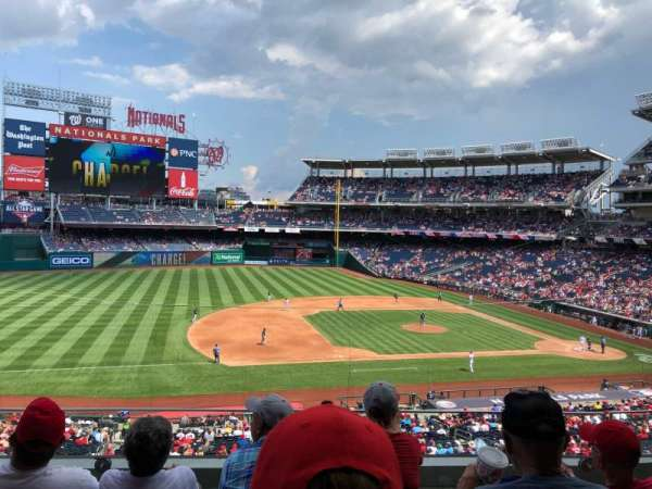 Nationals Park, secção: 207, fila: D, lugar: 16