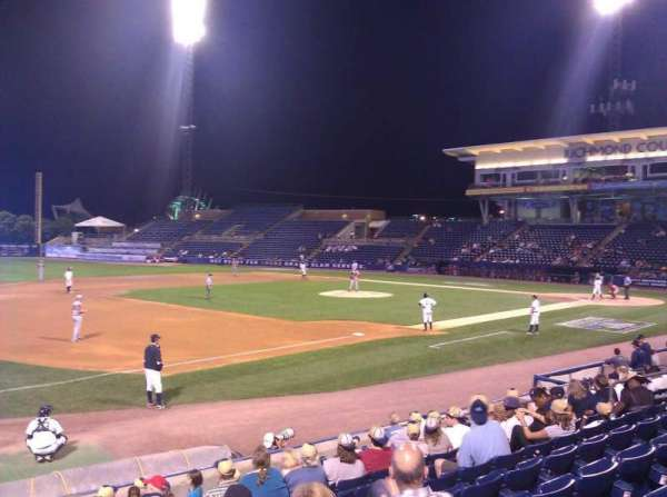 Richmond County Bank Ballpark, secção: 4, fila: L, lugar: 15