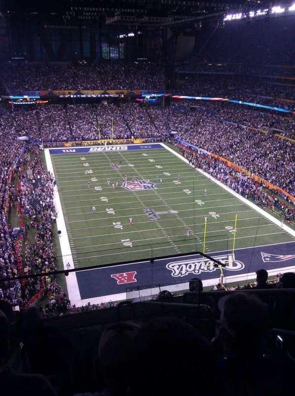 Lucas Oil Stadium, secção: 629, fila: 7, lugar: 3