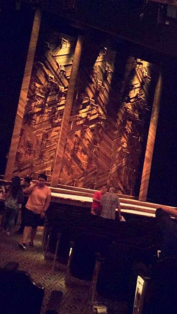 Bernard B. Jacobs Theatre, secção: Orchestra L, fila: M, lugar: 1
