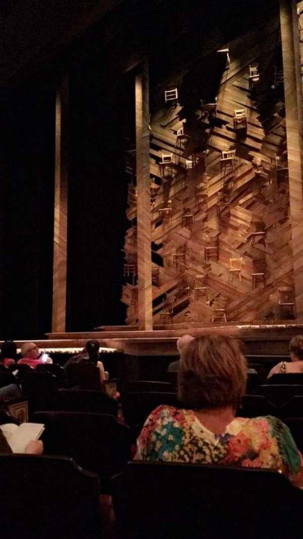 Bernard B. Jacobs Theatre, secção: Orchestra R, fila: E, lugar: 10