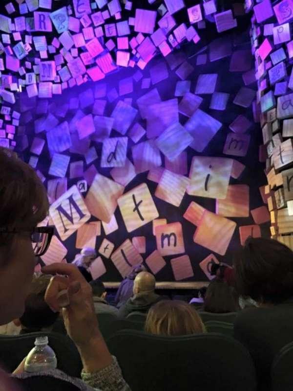 Shubert Theatre, secção: Orchestra R, fila: K