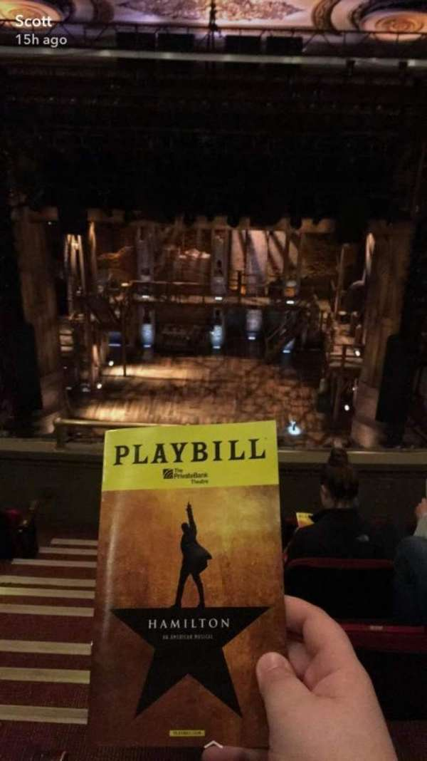 CIBC Theatre, secção: Balcony RC, fila: D, lugar: 402